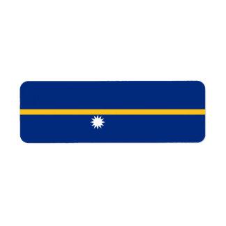 Nauru Flag Return Address Label