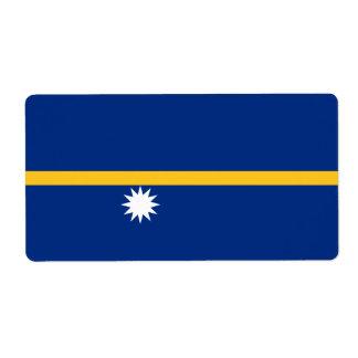 Nauru Flag Shipping Label