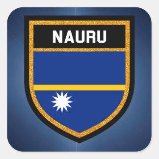 Nauru Flag Square Sticker