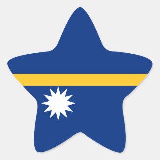 Nauru Flag Star Sticker