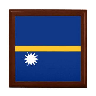 Nauru Flag Trinket Boxes