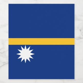 Nauru Flag Wine Label