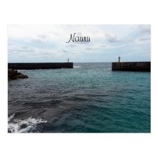nauru harbour postcard