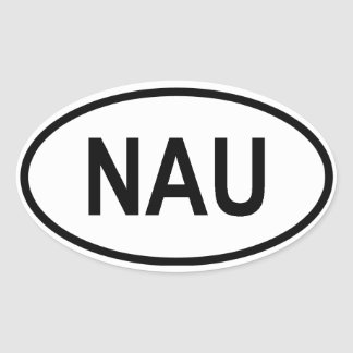 "Nauru ""NAU"" Oval Sticker"