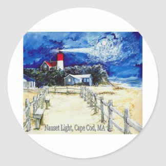 Nauset Light  Cape Cod, Ma. Classic Round Sticker