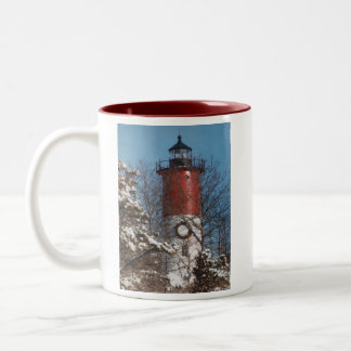 Nauset Light Christmas Two-Tone Coffee Mug