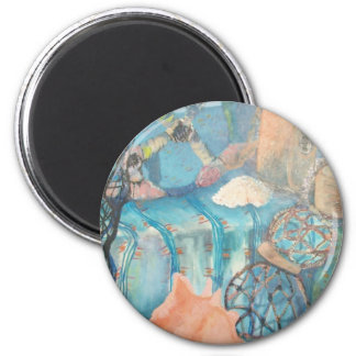 nautical abstract 2 inch round magnet