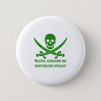 Nautical Acquisition& Redistribution Specialist GR 2 Inch Round Button