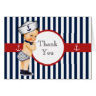 Nautical Ahoy It's a Boy Baby Shower Thank You Card