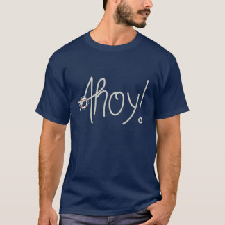 Nautical Ahoy Rope Text & Lifesaver T-Shirt