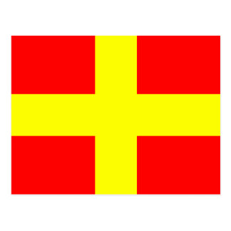 Nautical Alphabet Flag Signal Letter R Postcard