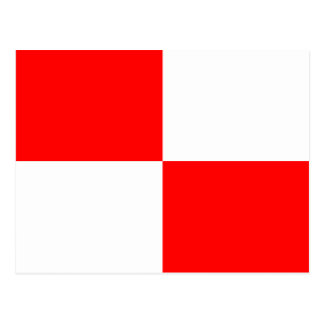 Nautical Alphabet Flag Signal Letter U Postcard