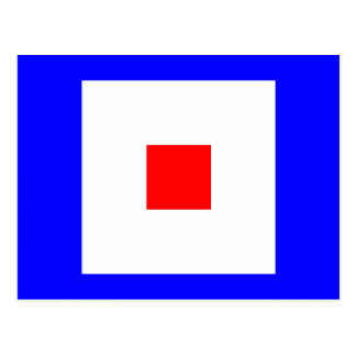 Nautical Alphabet Flag Signal Letter W Postcard