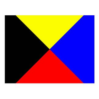 Nautical Alphabet Flag Signal Letter Z Postcard