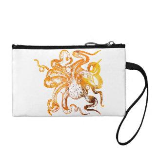 Nautical amber octopus coin purse
