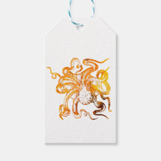 Nautical amber octopus gift tags