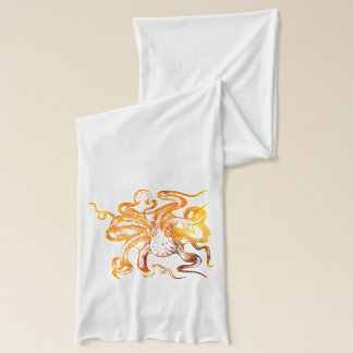 Nautical amber octopus scarf