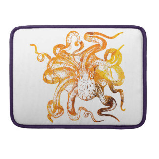Nautical amber octopus sleeve for MacBook pro