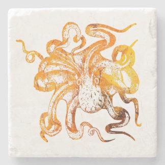 Nautical amber octopus stone coaster