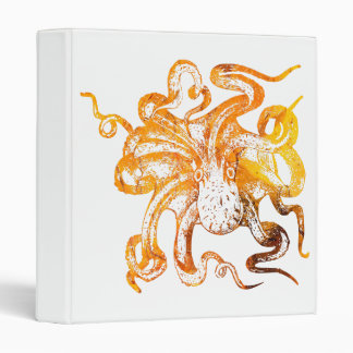 Nautical amber octopus vinyl binder