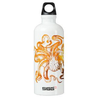 Nautical amber octopus water bottle