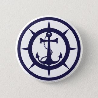Nautical Anchor 2 Inch Round Button