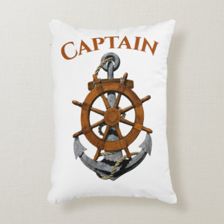 Nautical Anchor And Captain Accent Pillow