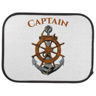 Nautical Anchor And Captain Car Mat