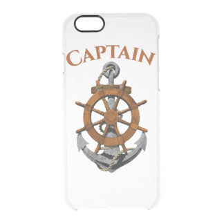 Nautical Anchor And Captain Clear iPhone 6/6S Case