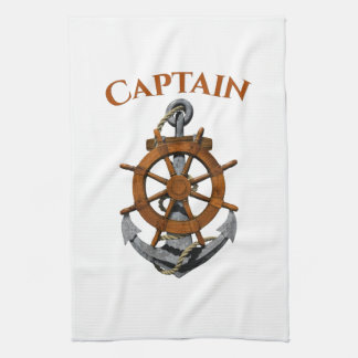 Nautical Anchor And Captain Kitchen Towel