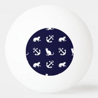 Nautical anchor and cats ping pong ball