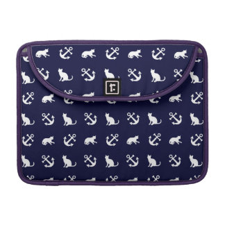 Nautical anchor and cats sleeve for MacBook pro
