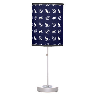 Nautical anchor and cats table lamp