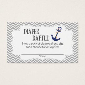 Nautical Anchor Baby Shower Diaper Raffle Tickets
