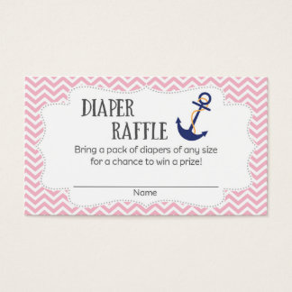 Nautical Anchor Baby Shower Diaper Raffle Tickets