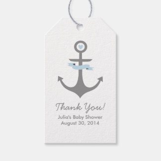 Nautical Anchor Baby Shower Favor Tags Light Blue Pack Of Gift Tags