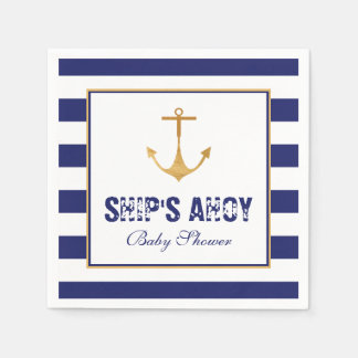 Nautical Anchor Baby Shower Paper Napkins