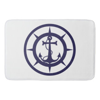 Nautical Anchor Bath Mat
