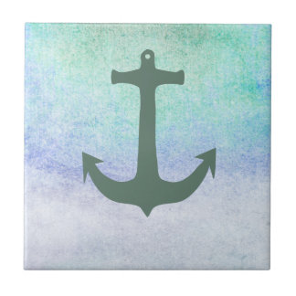 Nautical Anchor Beach Blue Summer vintage Tiles