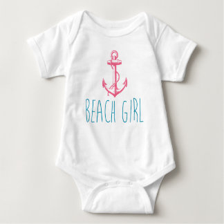 "Nautical Anchor ""Beach Girl"" Baby Bodysuit"