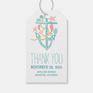 Nautical Anchor Beach Wedding Gift Tags
