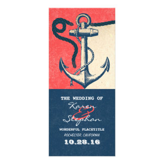 nautical anchor beach wedding programs