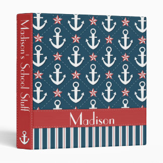 Nautical Anchor Binder