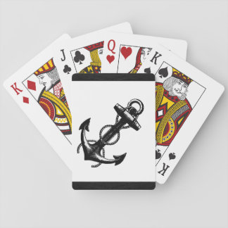 Nautical Anchor Black and White Design Playing Cards