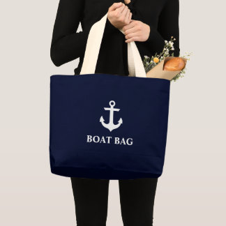 Nautical Anchor Boat Bag Navy Blue