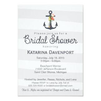 Nautical Anchor Bridal Shower Invitation