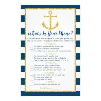 Nautical Anchor Bridal What's In Your Phone Game Flyer