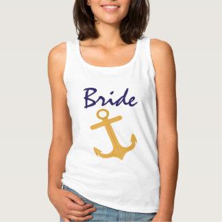 Nautical Anchor Bride Wedding Spaghetti Strap Tank Top