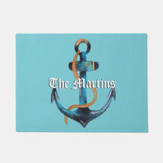 Nautical Anchor Customizable Door Mat