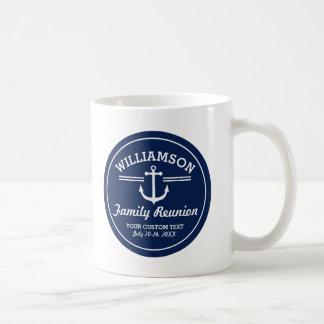 Nautical Anchor Family Reunion Trip Cruise Beach Classic White Coffee Mug